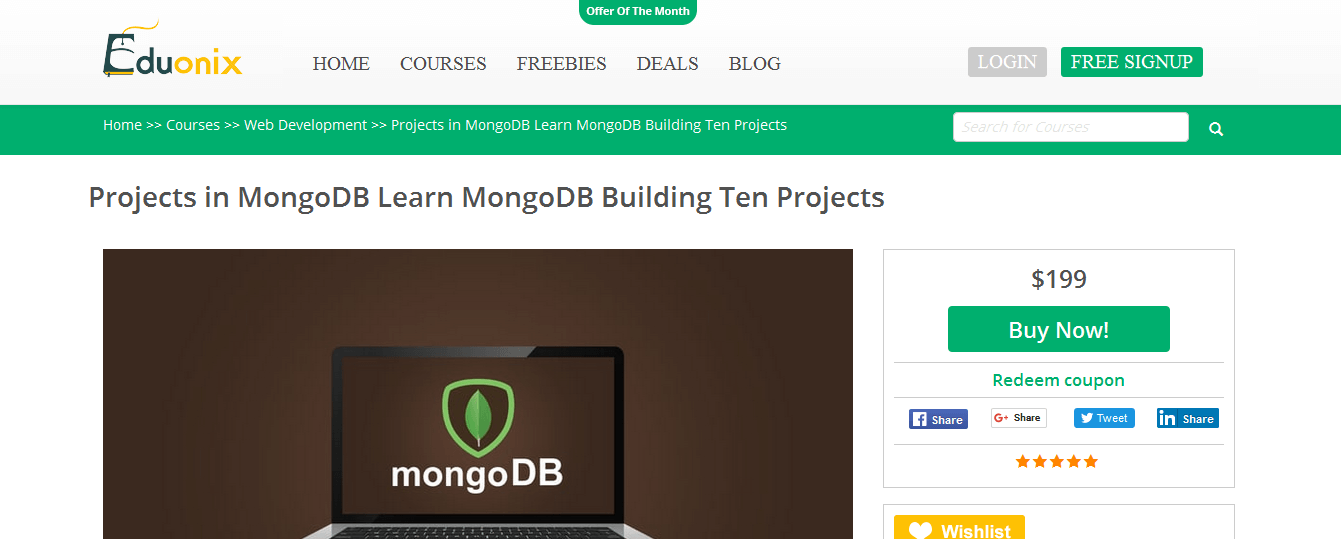 project in mongodb