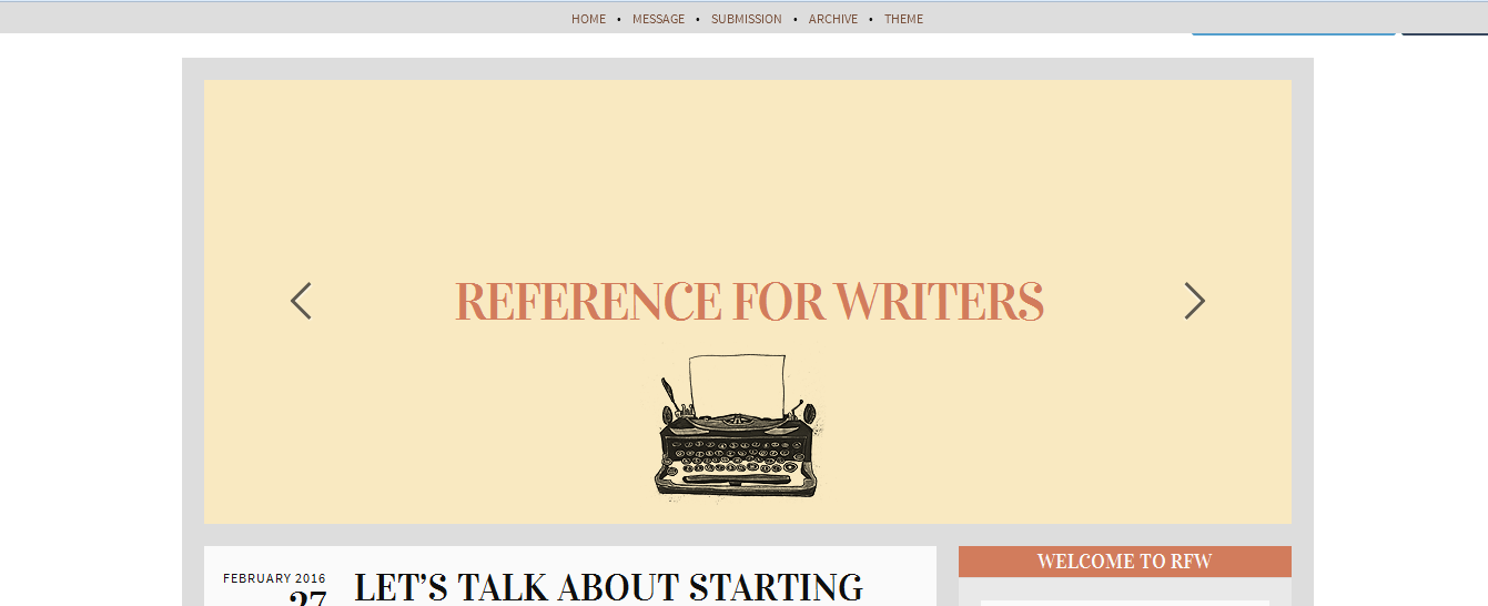 refrence for writer