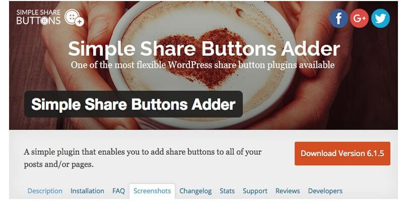 simple share button