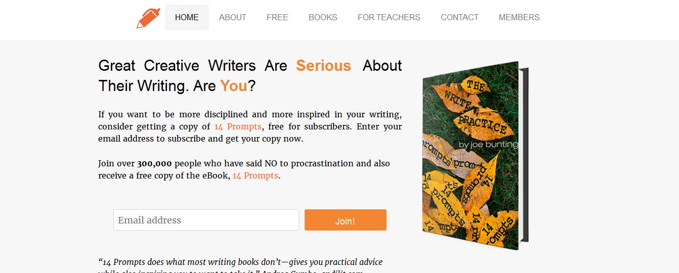 the writer practice