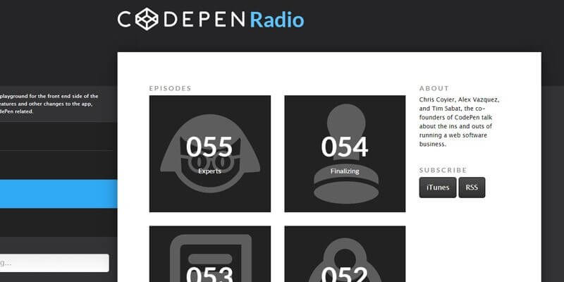 Codepen Radio