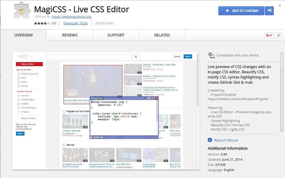 MagiCSS - Live CSS Editor