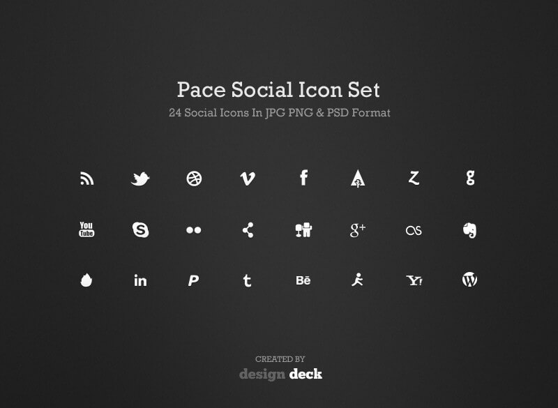 Pace Social Icon Set