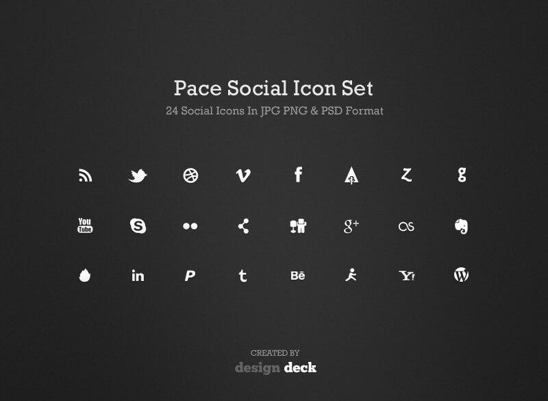 Pace Social Icon Set
