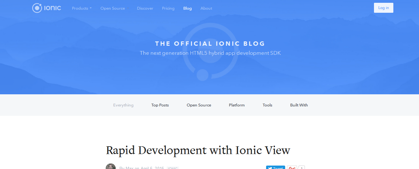 The Official Ionic Blog