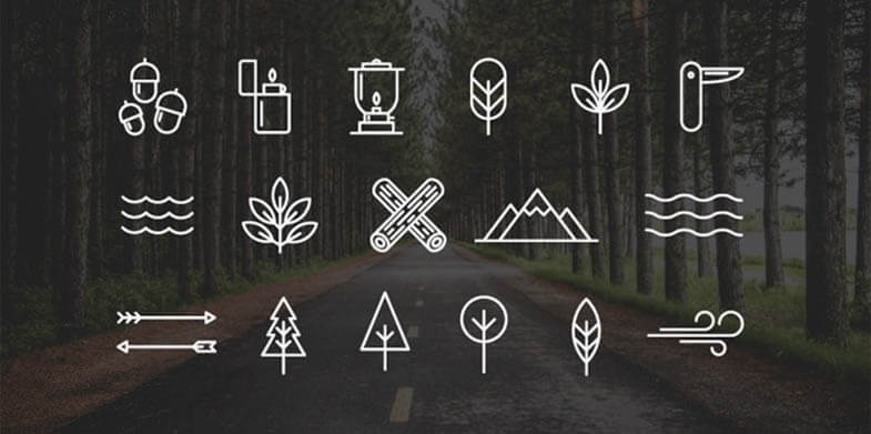 Wilderness-Camping Icons