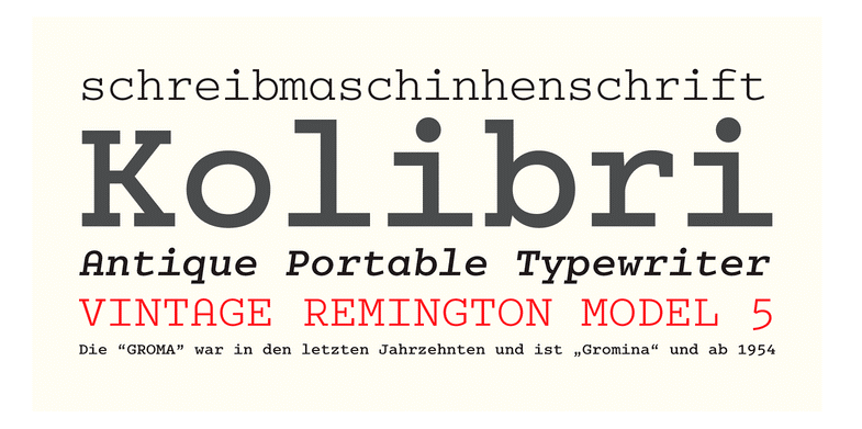 10 Cool Typewriter Fonts