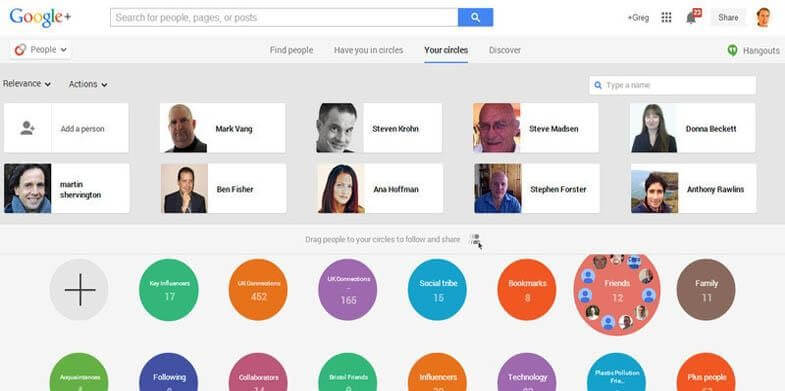 Google+ with Search