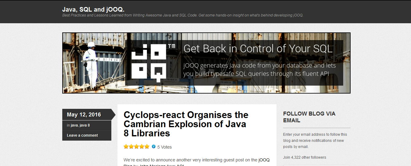 Java, SQL and JOOQ