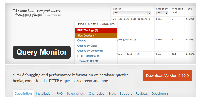 query monitor