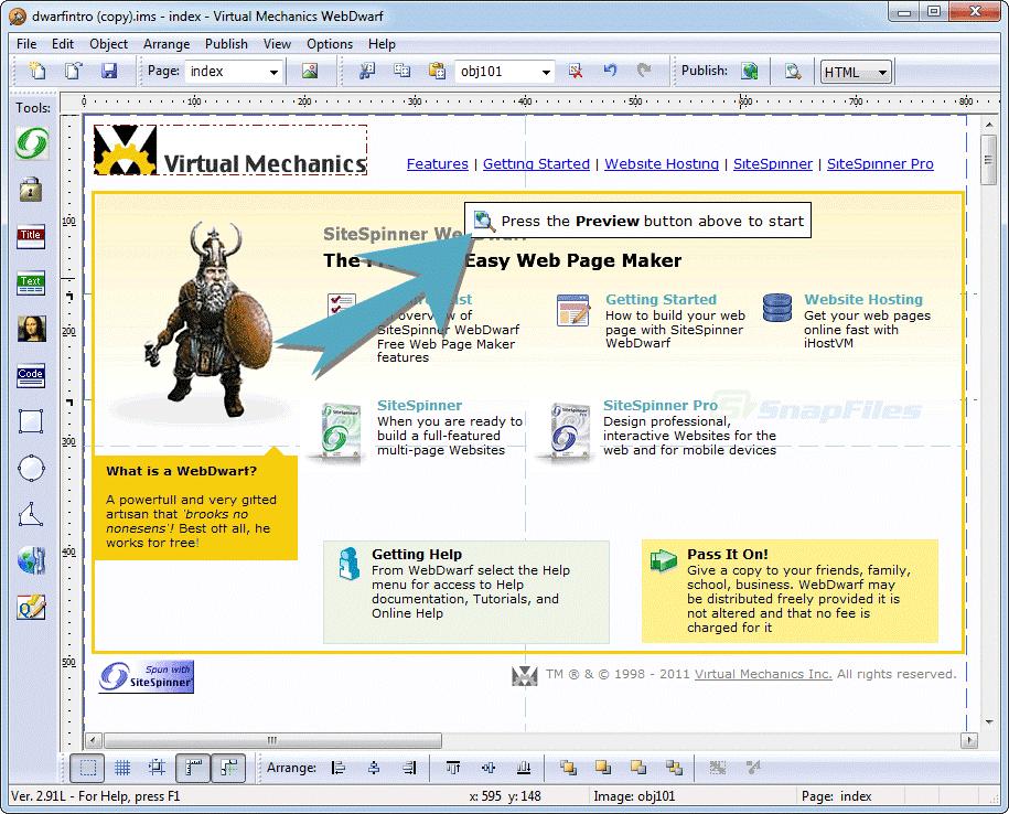 10 best free web design software for Website planning tool