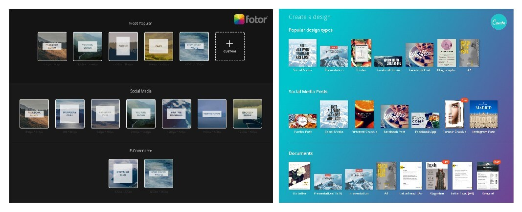 Fotor and Canva