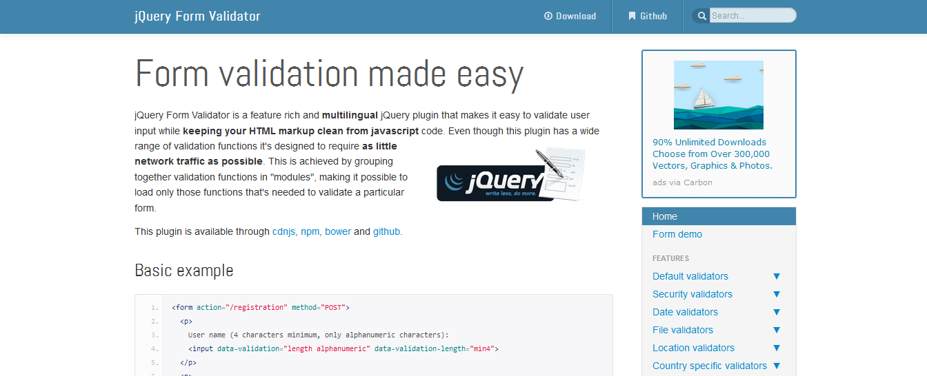jQuery Form Validator