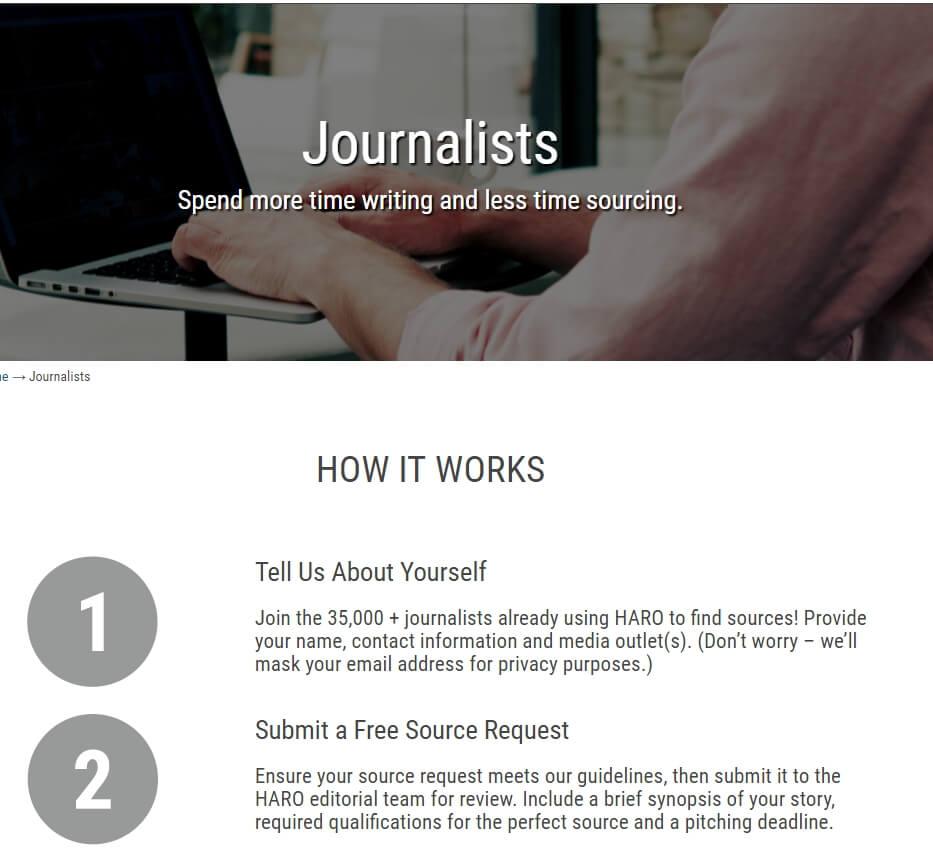 HARO-journalists