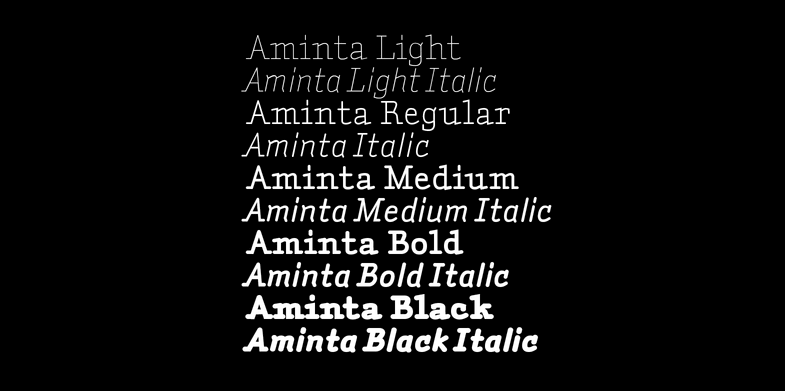 Right Typefaces