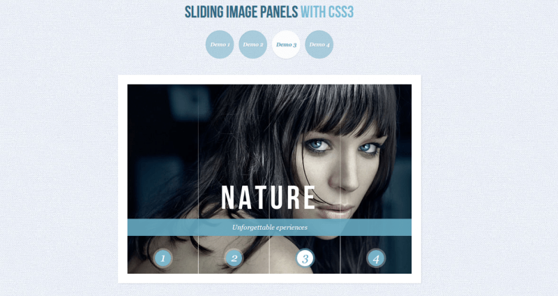 Sliding Image Panels - CSS3 Techniques