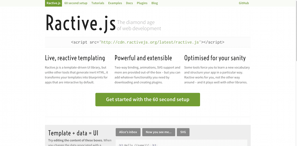 ractive.js JavaScript Frameworks