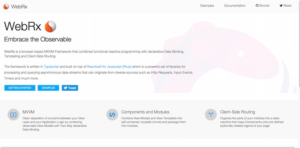 webrx JavaScript Frameworks