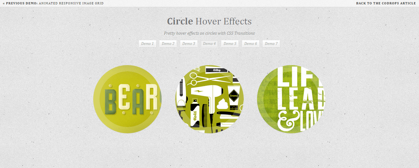 Circle - CSS3 animation libraries