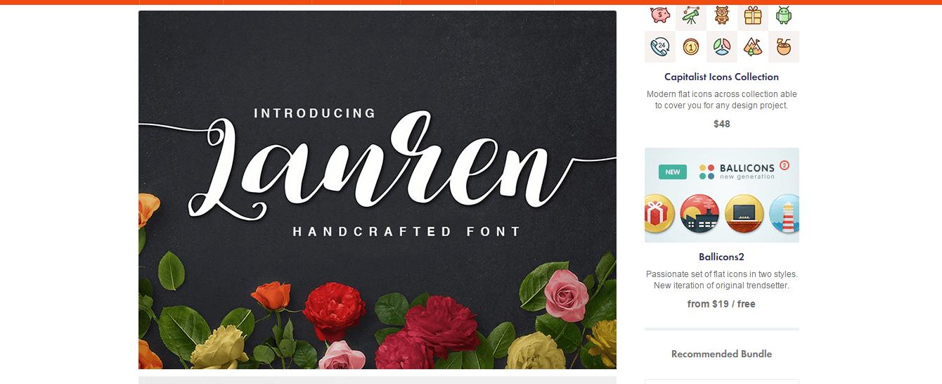 lauren-script-font