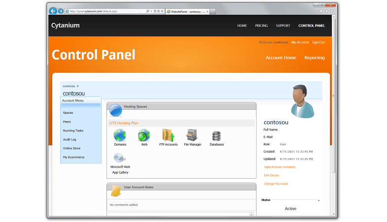 control-panel - Web Hosting Company