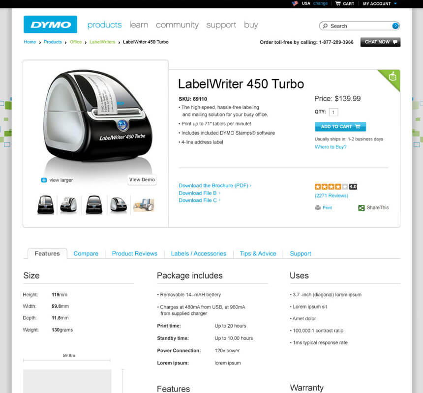 organized-product-page