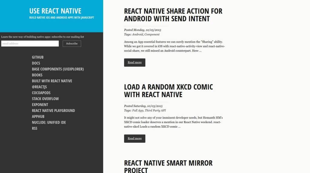 react-native - Mobile Web App Framework