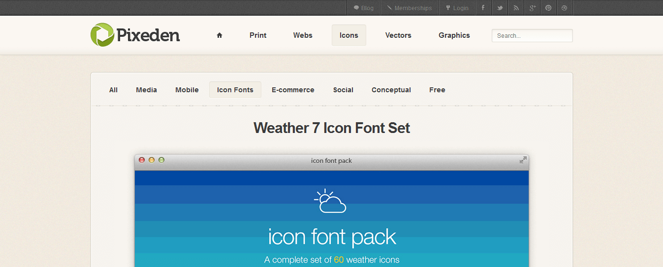weather-7-icon-font-set