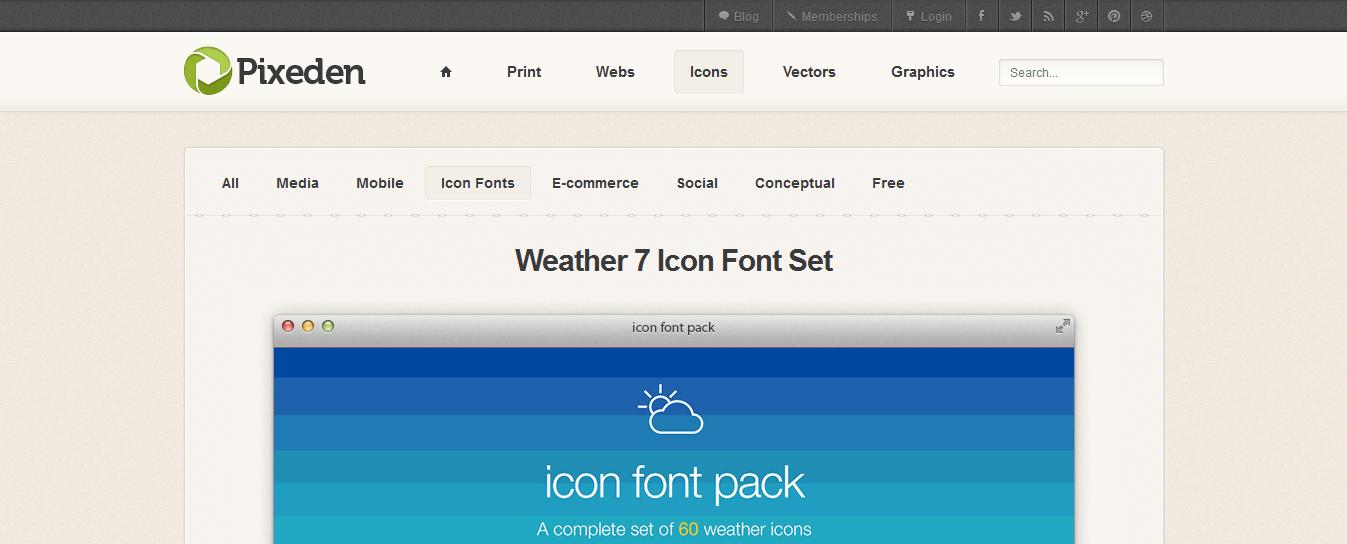 weather-7-icon-font-set