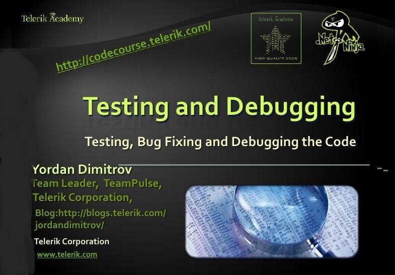 testing-and-debugging