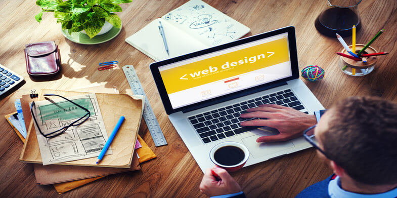 Web Design Online Technology Working Office Concept