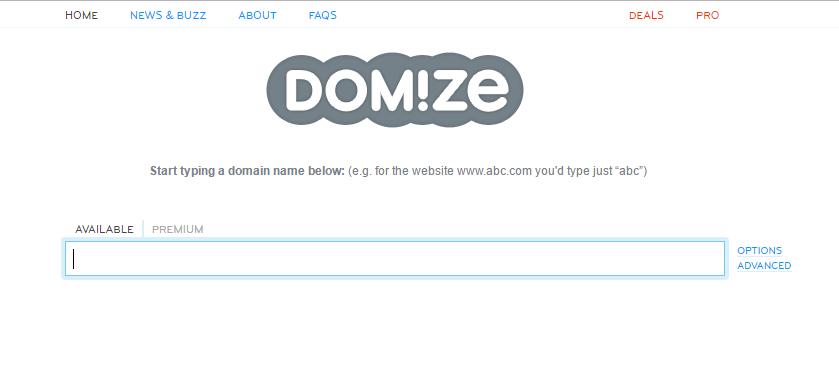 Domize - domain name selection tool