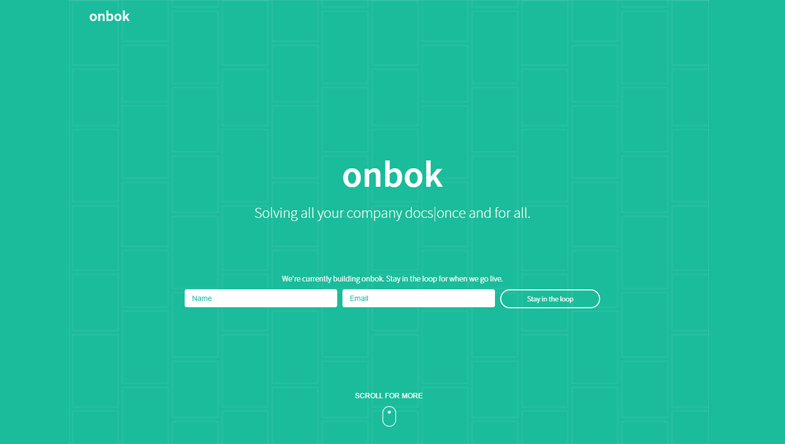Onbok - Coming Soon Page Ideas