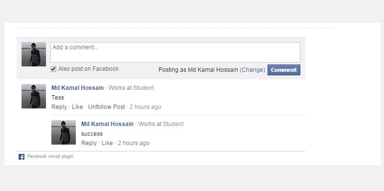 Facebook Comment Boc