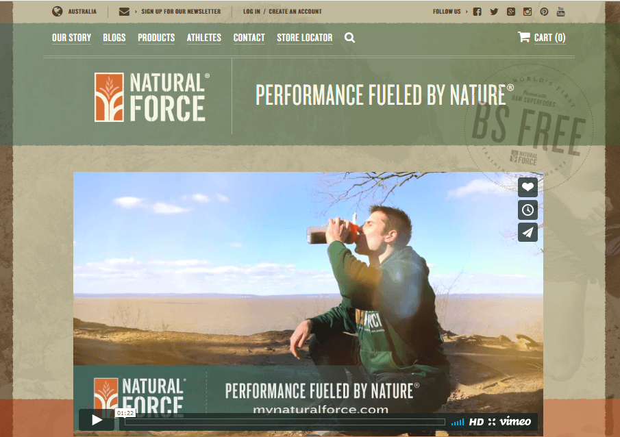 Natural Force Nutrition - eCommerce Web Design