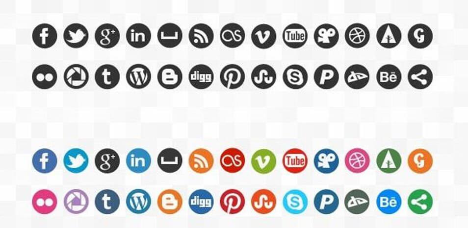 144 social icons