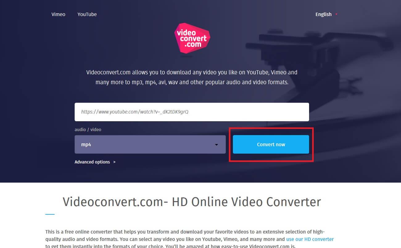 Convert Now button
