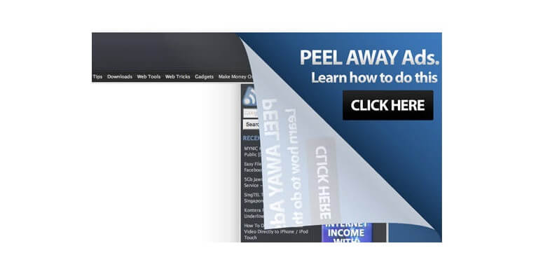 Peel away effects