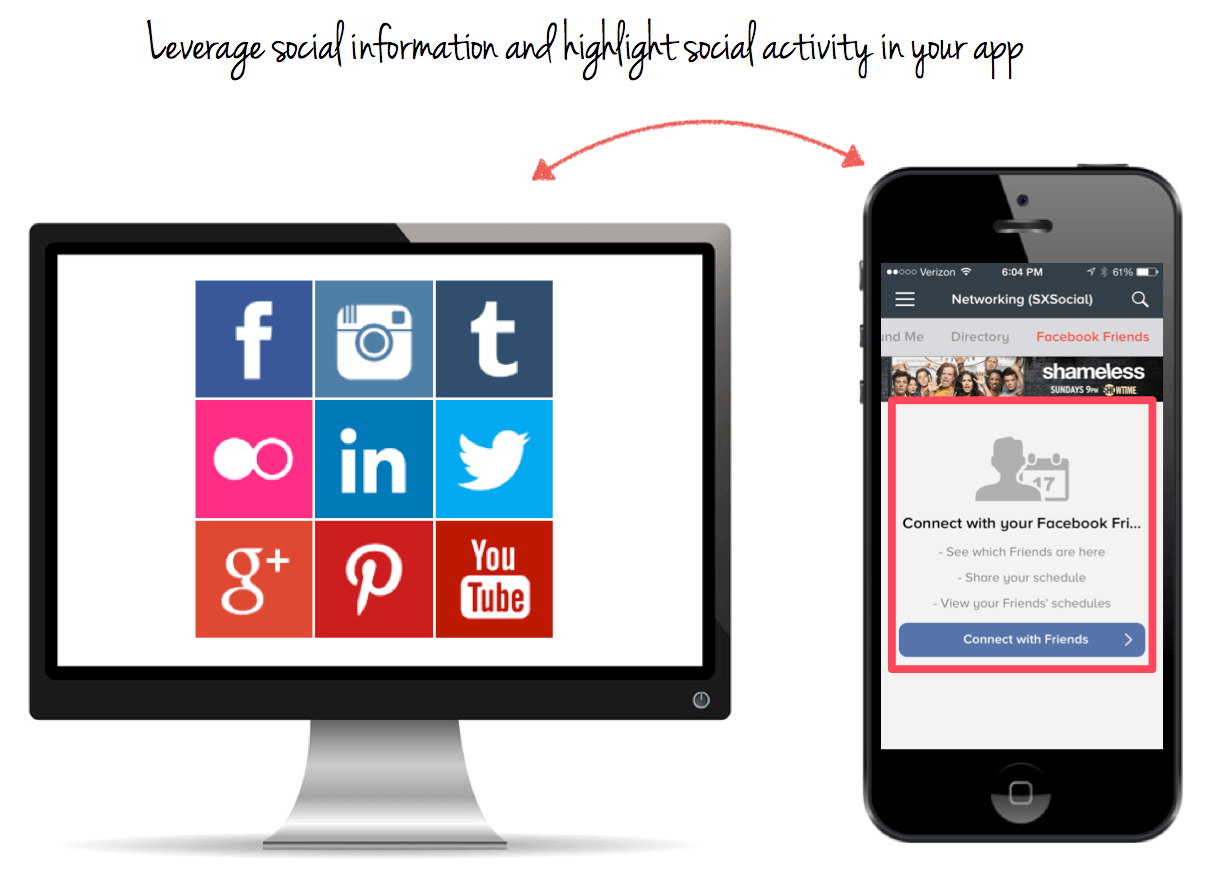 Social Media Integration - increase app ranking