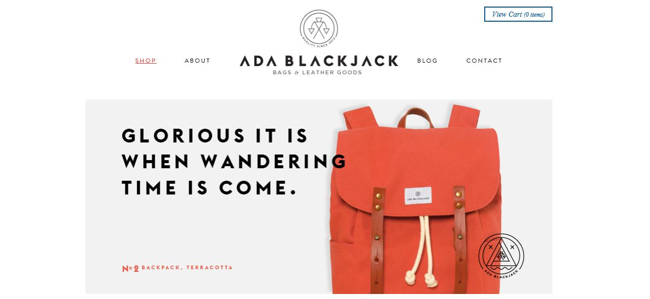 Ada Blackjack E-commerce Websites