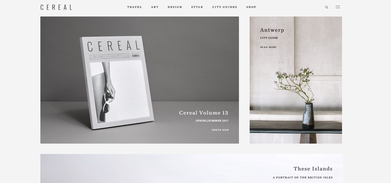 Cereal magazine E-commerce Websites