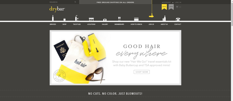 Drybar E-commerce Website