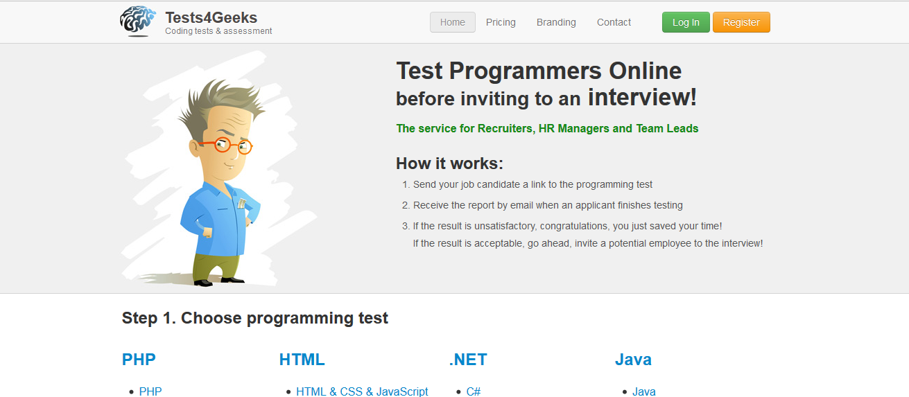 Test Website - Programming Skills