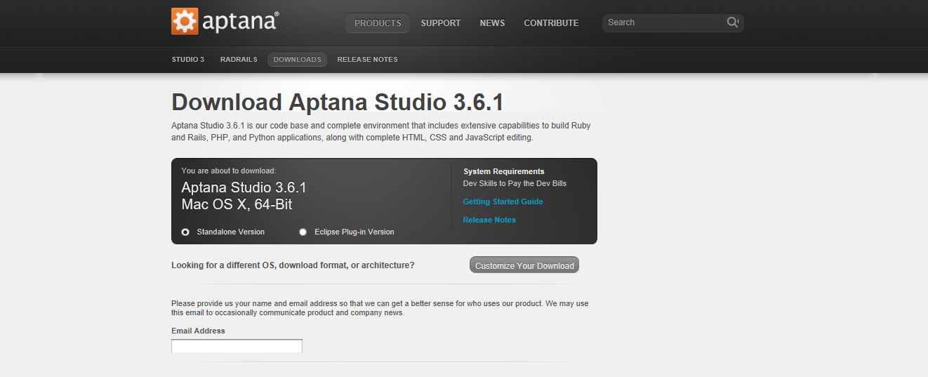 Aptana Studio - Web Development & Technology Resources