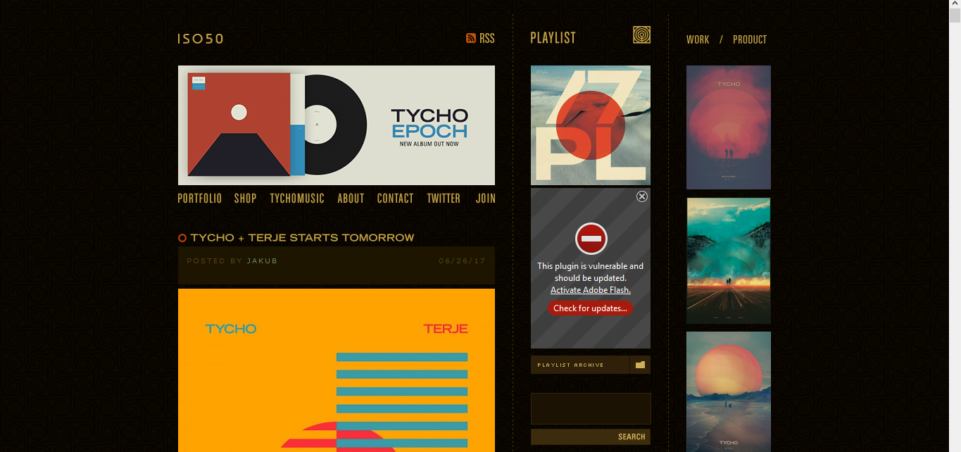 ISO50 - vintage website design