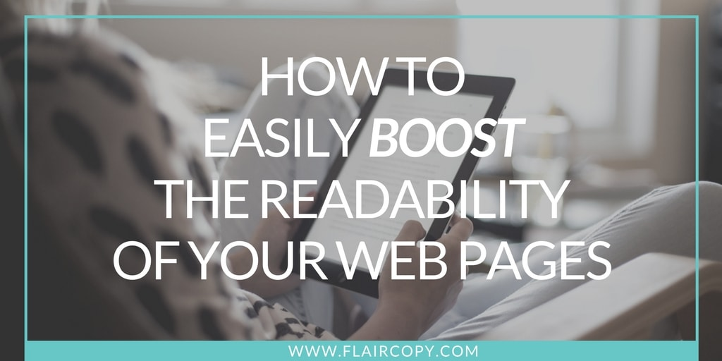 Make your website more readable