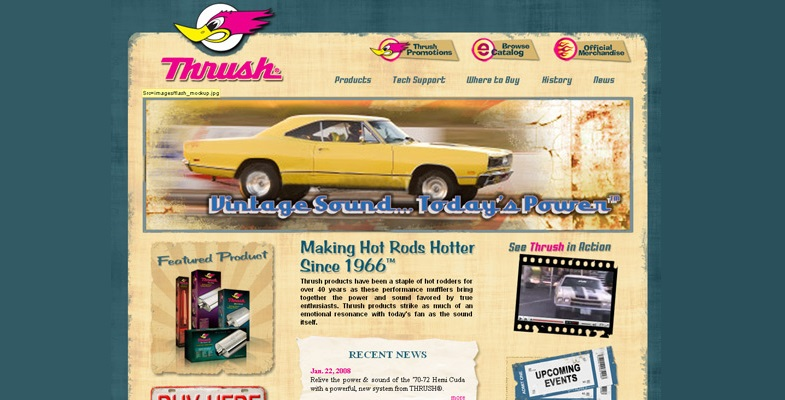 Thrush - vintage website design