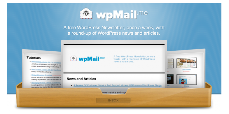 wpMail.me - WordPress tips blogs