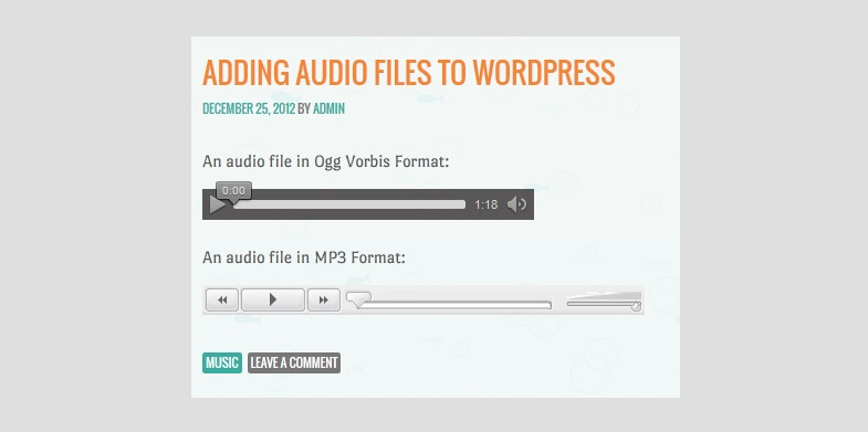 WP audio player