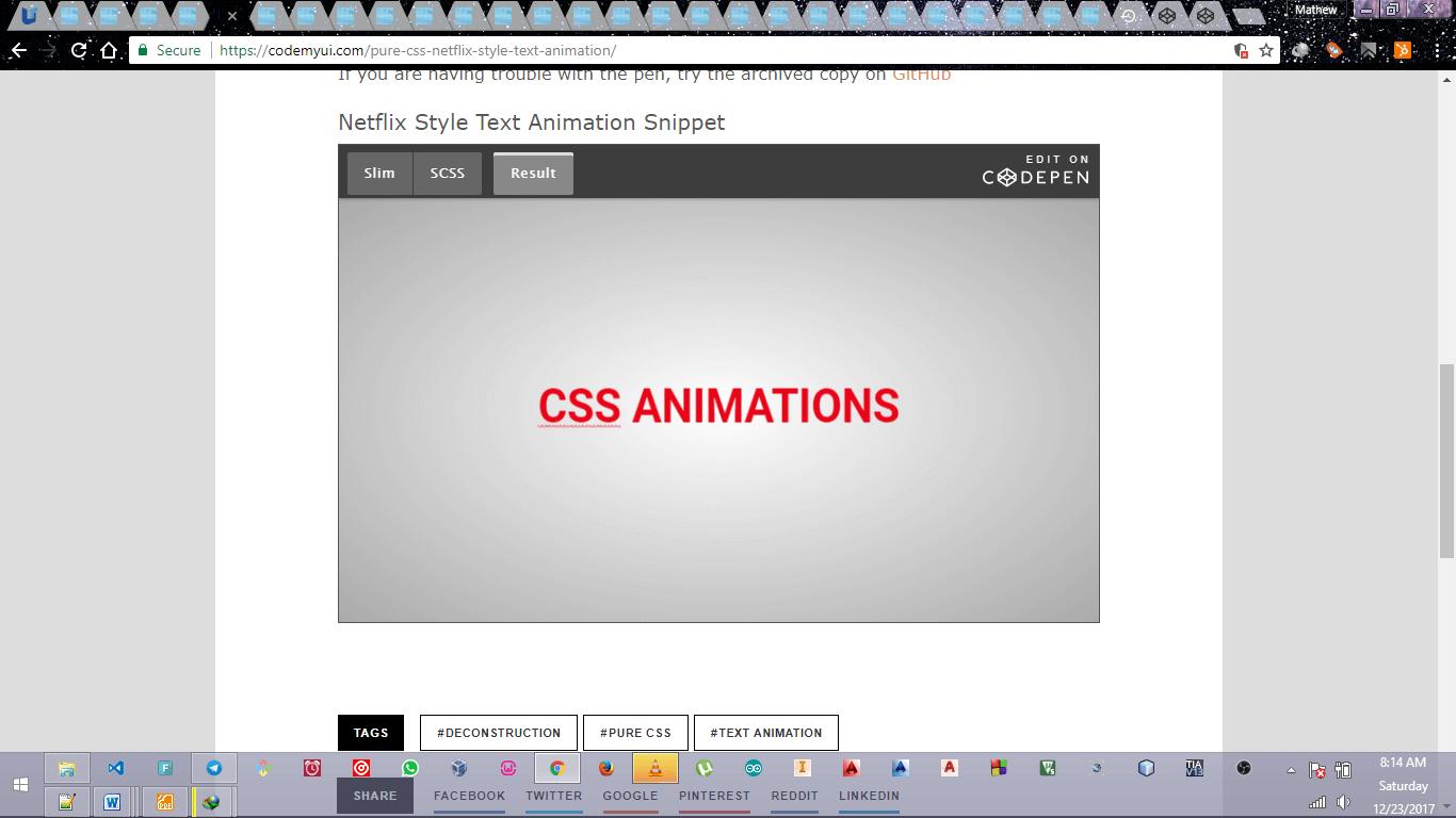 CSS Netflix Style Text 2